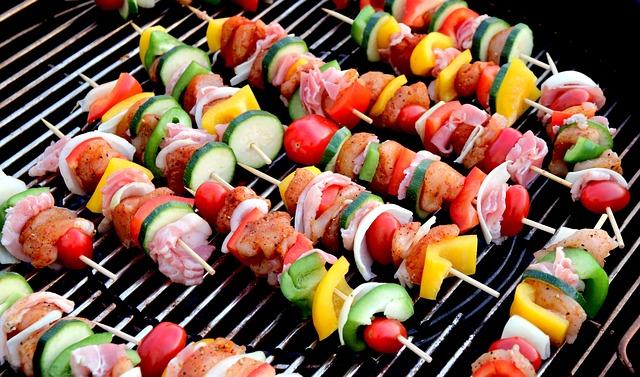Shish Kebab, Meat Skewer, Food, Onion, Barbecue, Bacon