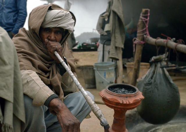 Man, Smoke, Life, Village, Shisha