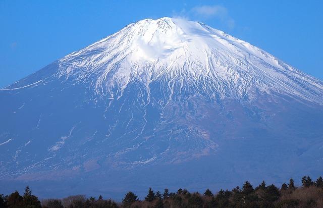 Mt Fuji, Gotemba, Winter, Shizuoka Prefecture, Mound