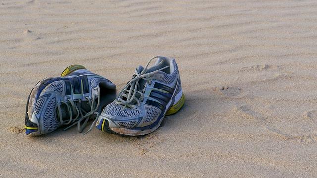 Beach, Sand, Shoe, Foot, Desert, Fuerteventura