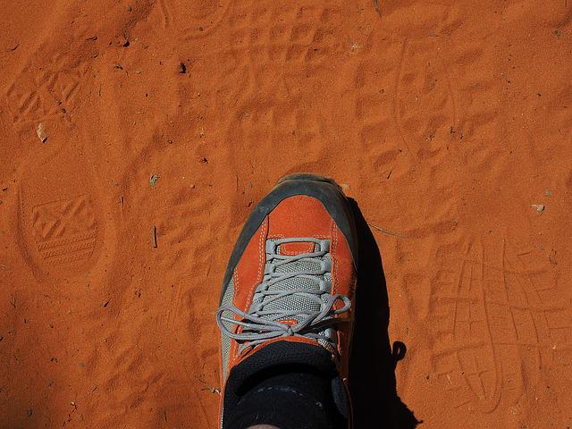 Shoe, Reprint, Traces, Sand, Tracks In The Sand