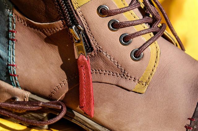 Shoe, Leather Shoe, Chic, Zip, Pusher, Shoelace, Brown