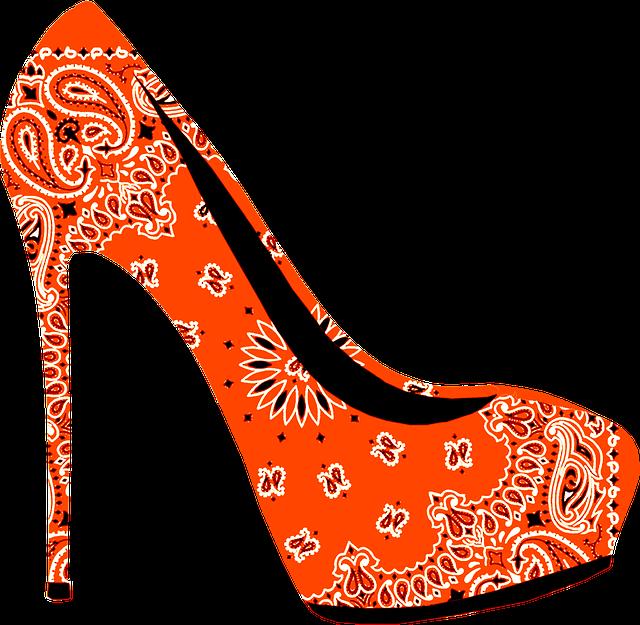 High, Heel, Stiletto, Shoe, Fashion, Style, Paisley