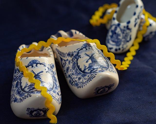 Shoes, Ceramic Shoes, Dutch Memento, Decoration