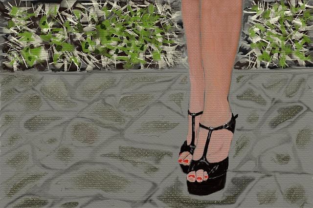 Shoes, Legs, Foot, Ten, Woman, Wear