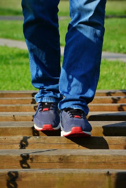 Go, Legs, Run, Feet, Shoes, Movement, Young Man