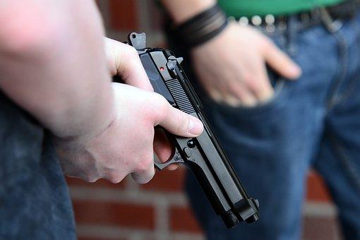 Youth, Weapon, Pistol, Beretta, Hand Gun, Shoot