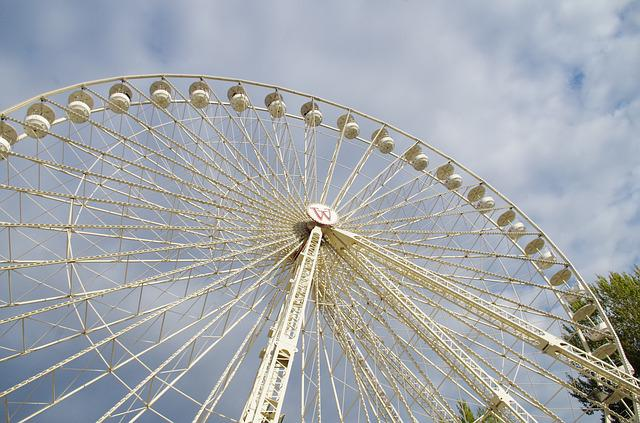 Ferris Wheel, Amusement Park, Shooting, Playground