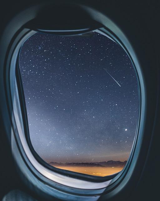 Airplane, Window, Milkyway, Shootingstar, Meteorid, Sky