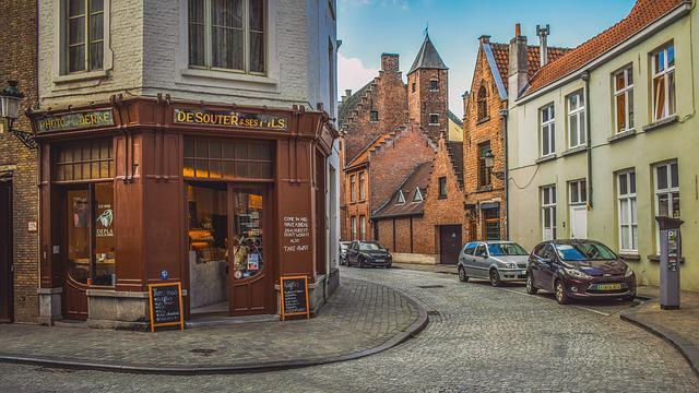Belgium, Brugge, Architecture, Buildings, Street, Shop