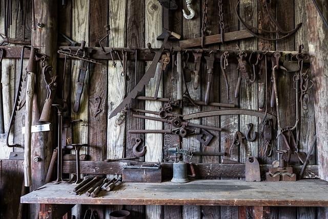 Blacksmith, Tools, Shop, Rustic, Old, Antique, Vintage
