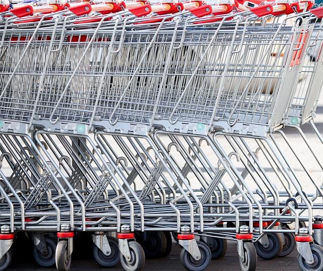 Shopping Cart, Supermarket, Slide, Shopping