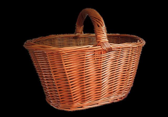 Basket, Shopping Basket, Isolated, Shopping, Weave