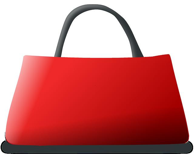 Handbag, Red, Pocketbook, Purse, Leather, Shopping