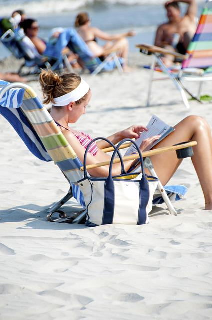 Beach, Sand, Girl, Shore, Sunshine, Summer, Beach Chair