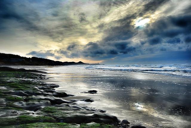 Depoe Bay, Ocean, Shore, Beach, Pacific Ocean