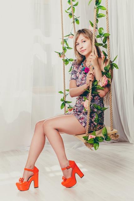 Swing, Girl, Studio, Legs, Short Dress, Bodycon Dress