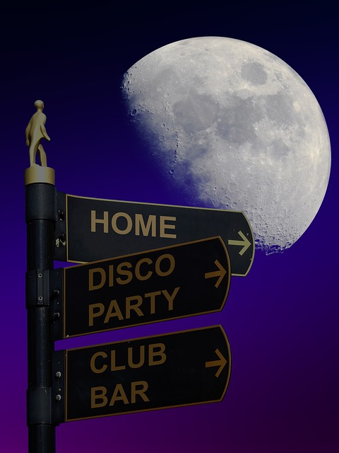Note, Party, Disco, Club, Bar, Night, Moon, Away, Show