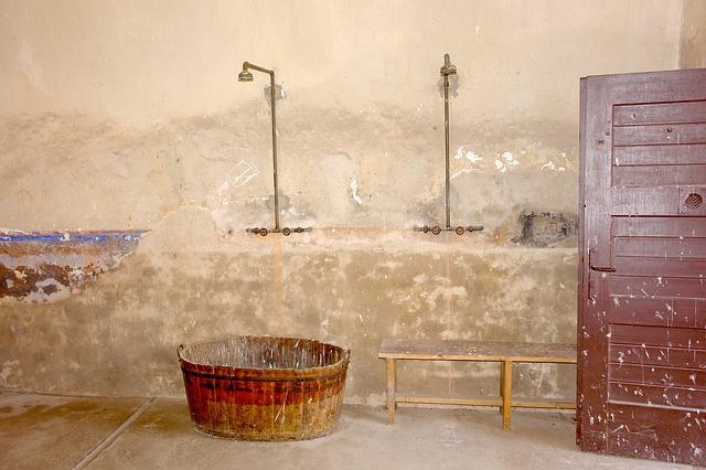 Shower, Space, Old, Shower Room, Concentration Camp