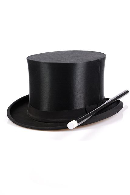 Magic, Black Magic, Hat, Wand, Witchcraft, Showing