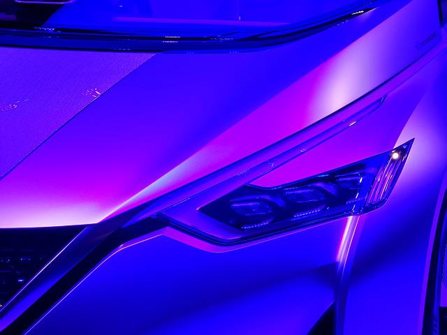 Nissan, Car, Design, Purple, Showroom, Vehicle