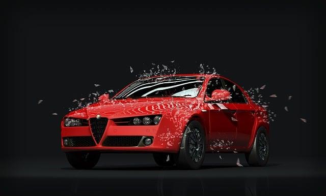 Car, Sports Car, Red, Dark, Showroom, Race, Rally