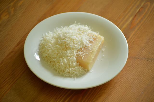 Parmesan, Cheese, Grated, Shredded, Block, Food