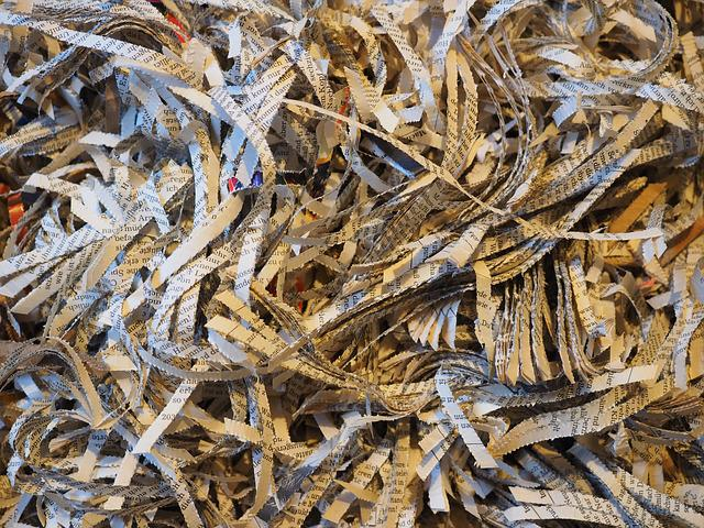 Shredder, Crushed, Paper, Flakes, Paper Strip, Shredded
