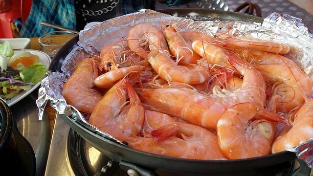 Shrimp, Salt-grilled, Grilled Shrimp