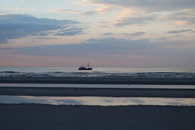 Ameland, Buren, Beach, Sea, Shrimp, Fishing Boat