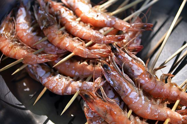 Skewers, Shrimps, Seafood, Skewered, Prawns, Cuisine