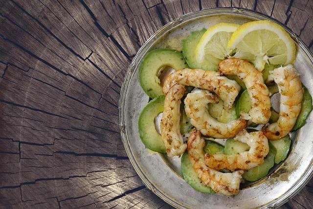 Shrimps, Seafood, Avocado, Prawns, Food, Cuisine