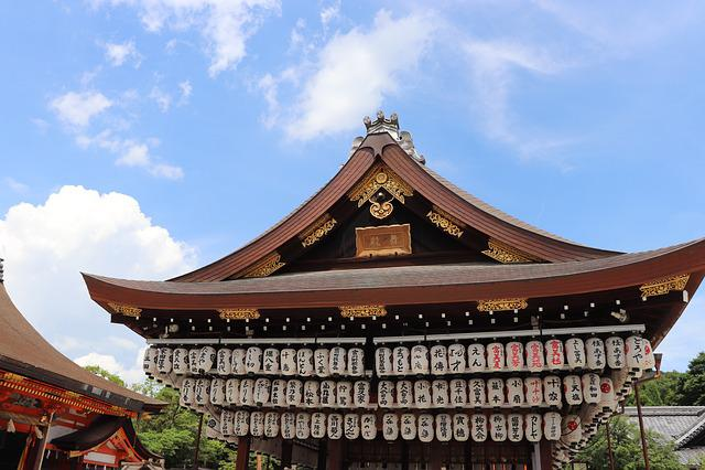 Temple Of The Golden Pavilion, Blue Sky, Shrine
