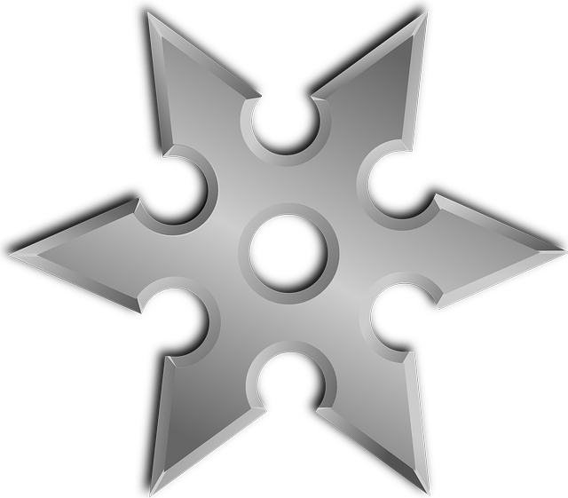 Shuriken, Throwing Star, Ninja Star, Weapon, Japanese