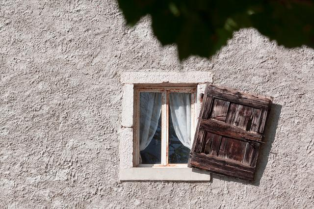 Window, Old, Shutter, Wood, Stone, Vineyard, House