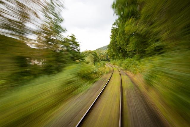 Train, Travel, Rails, Steel, Drive, Shutter Speed, Rear