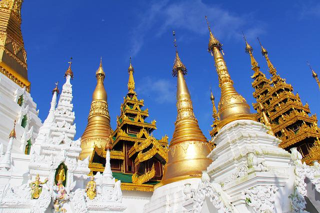 Temple, Pagoda, Shwedagon Pagoda, Religion, Buddhism