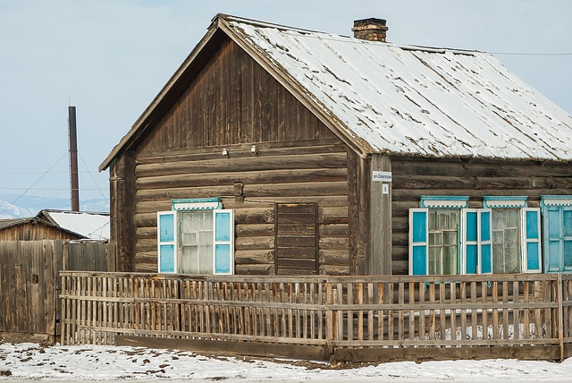 Siberia, Lake Baikal, Wooden House, Chalet