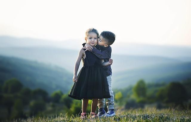 Children, Hug, Siblings, Brother, Sister, Friends