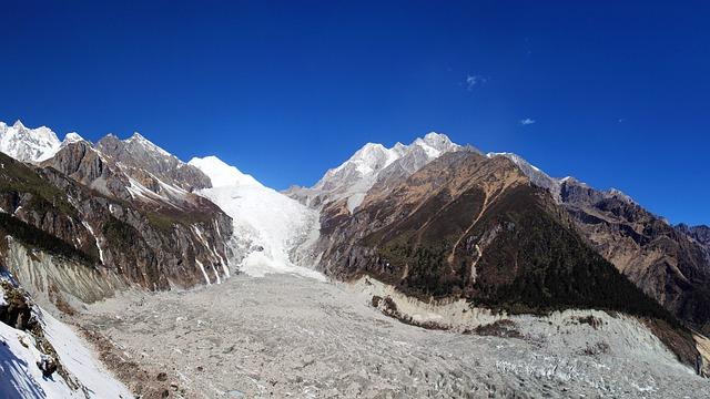 Ice Falls, Glacier, Hailuogou, Gongga Mountain, Sichuan