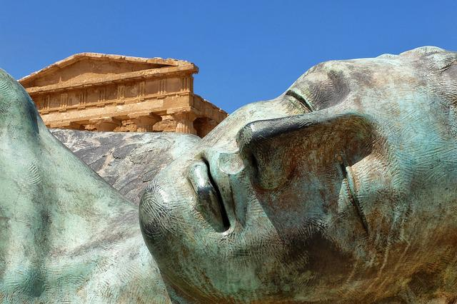 Sicily, Agrigento, Valley Temples, Statue, Bronze