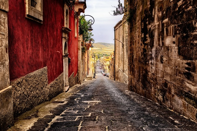 Alley, Road, Sicily, Italy, Downtown, Historic Center