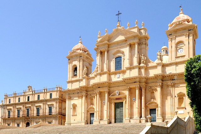 Sicily, Noto, Baroque Church, Baroque