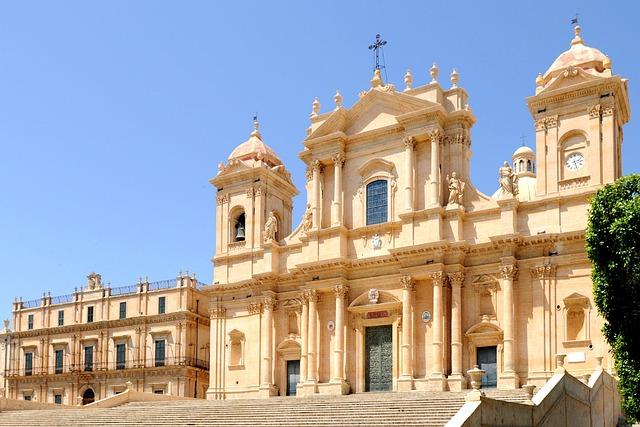 Sicily, Noto, Baroque Church, Baroque