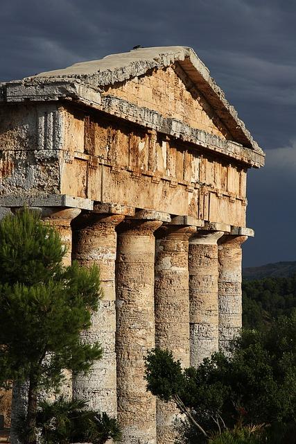 Segesta, Sicily, Temple, Landscape