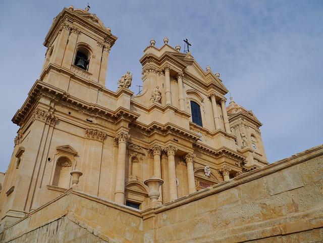 Sicily, Noto, Baroque Church, Baroque, Val Di Noto
