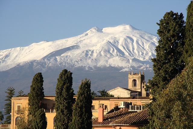 Italy, Sicily, Taormina, Etna