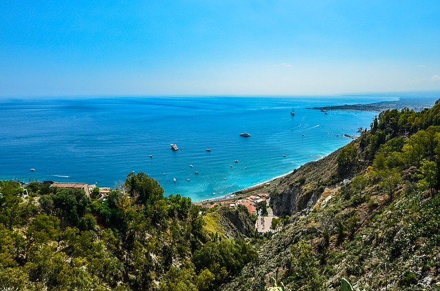 Sicily, Coast, Coastline, Travel, Italy, Ships, Shore