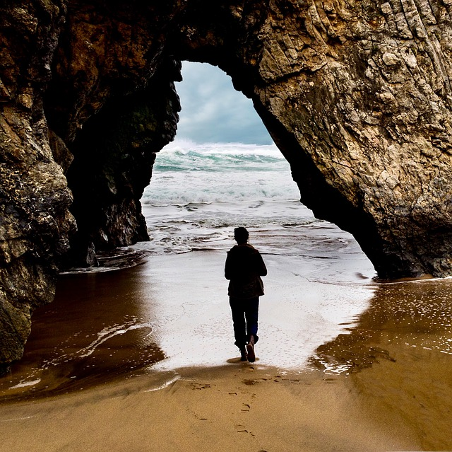 Cave, Body Of Water, Side, Sea, Travel, Beach