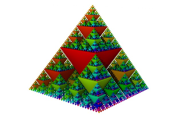 Sierpinski, Fractal, Geometry, Symmetrical, Shape, Math